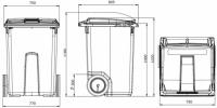 Контейнер 370 литров чертеж