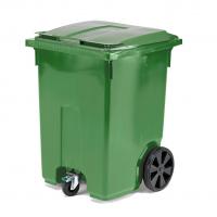 Мусорный контейнер 370 литров зеленый