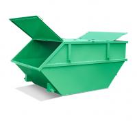 Бункер закрытый 8 м3 зеленый